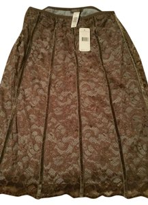 Sigrid Olsen Lace Skirt Coffee brown, gray