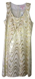Pink Tartan Metallic Dress