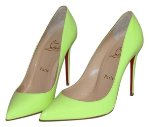 Christian Louboutin Neon Yellow Patent Pumps