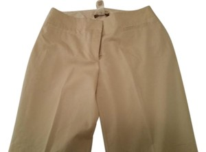 Sigrid Olsen Professional Cream Trouser Pants Toasted Almond