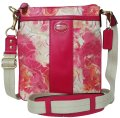 Coach Floral North South Swingpack Cross Body Bag