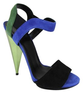 Gucci Liberty Colorblock Suede Black Green Blue/1069 Platforms