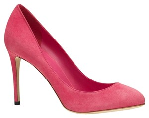 Gucci 338776 Womens Suede Shocking Pink/5617 Pumps