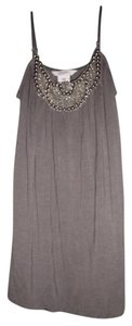 Candie's Bohemian Gypsy Hippie Studded Beaded Top Gray