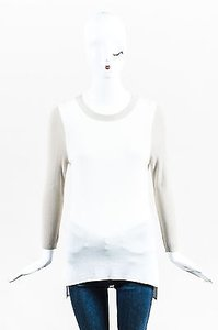 10 Crosby Derek Lam White Three Quarter Sleeve Sweater