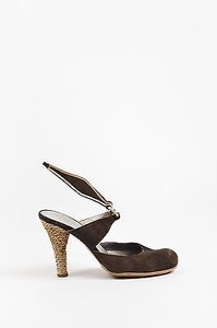 CoSTUME NATIONAL Suede Brown Pumps