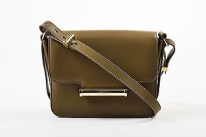 Jason Wu Army Leather Gold Tone Hardware Flap Top Diane Cross Body Bag