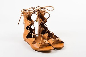 IRO Leather Studded Camel Sandals