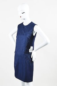 short dress Blue Each X Navy Wool on Tradesy