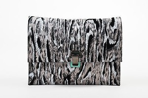 Proenza Schouler Leather Gray Clutch