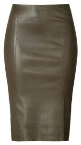 Jitrois French Leather Luxury Skirt Green