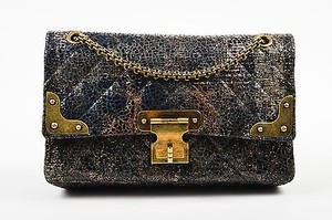 Chanel Special Edition Lacquered Tweed Gold Hardware Cross Body Bag