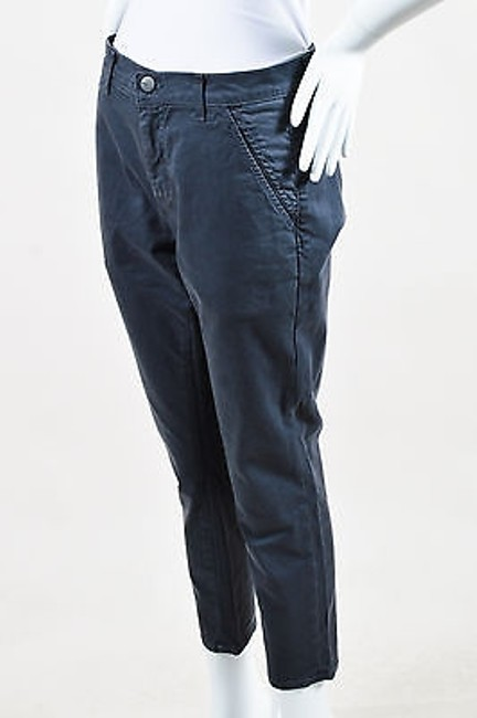 Item - Crippen Dark Gray Stretch Cotton Skinny Cropped Six Trousers