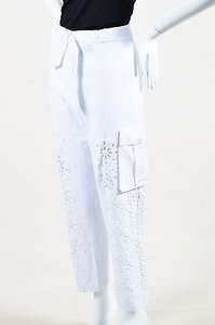 Sea New York Cotton Linen Cargo Pants White