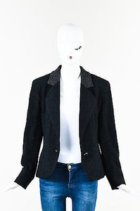 Chanel Textured Knit Cc Black Jacket