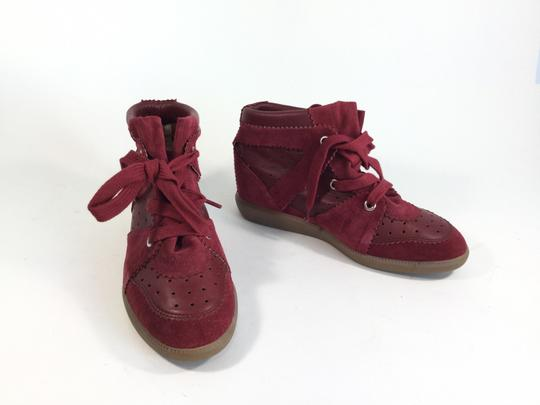 Isabel Marant Title Betty Suede Wedge Burgundy Athletic