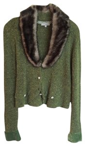Laurie B. Vintage Look Faux Fur Collar Sweater