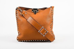 Valentino Brown Leather Cross Body Bag