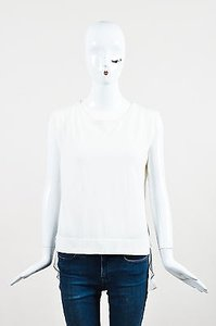 Theory Cashmere Silk Top White