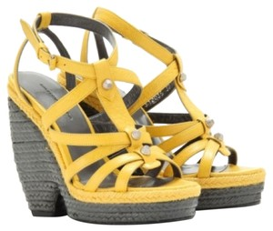 Balenciaga Espadrille Strappy New yellow Wedges
