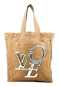 Louis Vuitton Limited Edition Olive Canvas Thats Love Gm Tote in Green