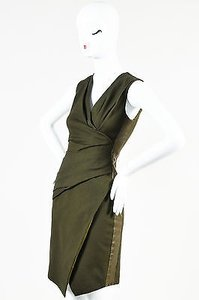 J. Mendel Tri Tone Canvas Dress
