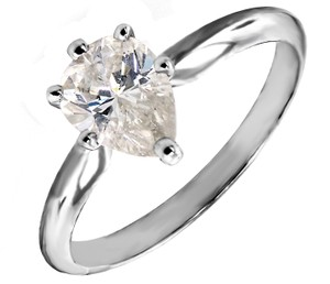 ABC Jewelry 1.09 Ct Pear Shaped Diamond Solitaire Ring