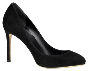 Gucci 338776 Womens Suede Black/1000 Pumps