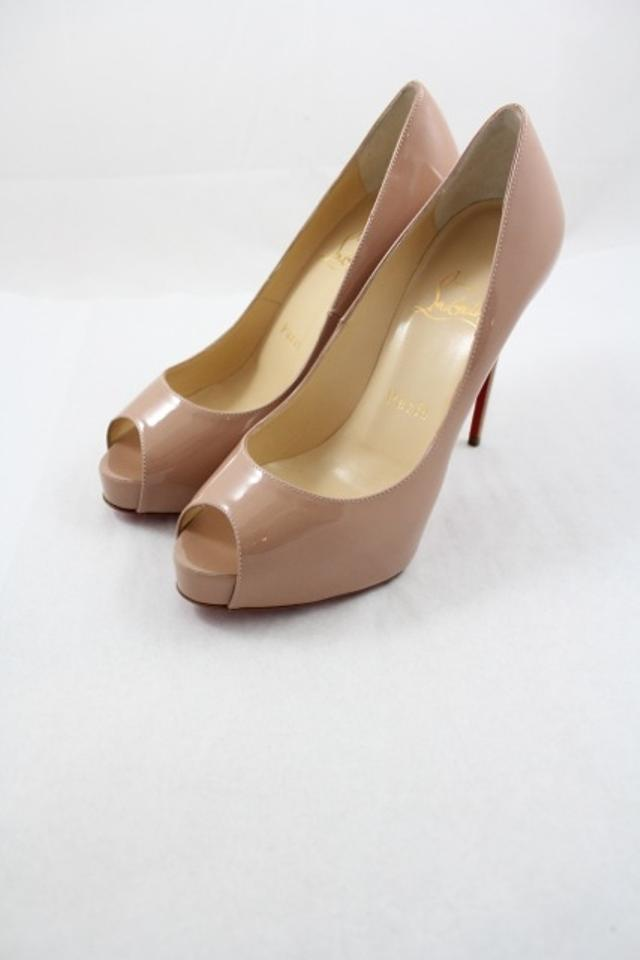 best service b6232 fc4e4 Christian Louboutin Nude New Very Prive 120mm Patent In Pumps Size US 6  Regular (M, B) 8% off retail