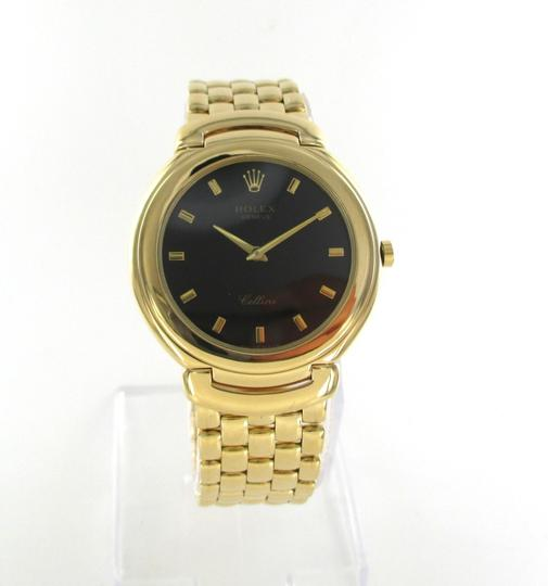 Rolex GENTS ROLEX CELLINI 18KT SOLID YELLOW GOLD WATCH 37MM FULL SIZE JUBILEE DIAL