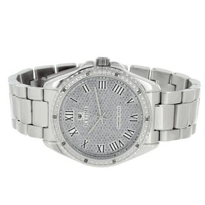 IceTime Mens Real Diamond Watches On Sale Icetime Luxury Style Roman Numeral Dial Classy