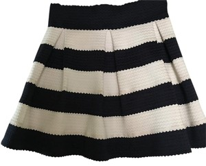 Honey Punch Mini Skirt Navy white
