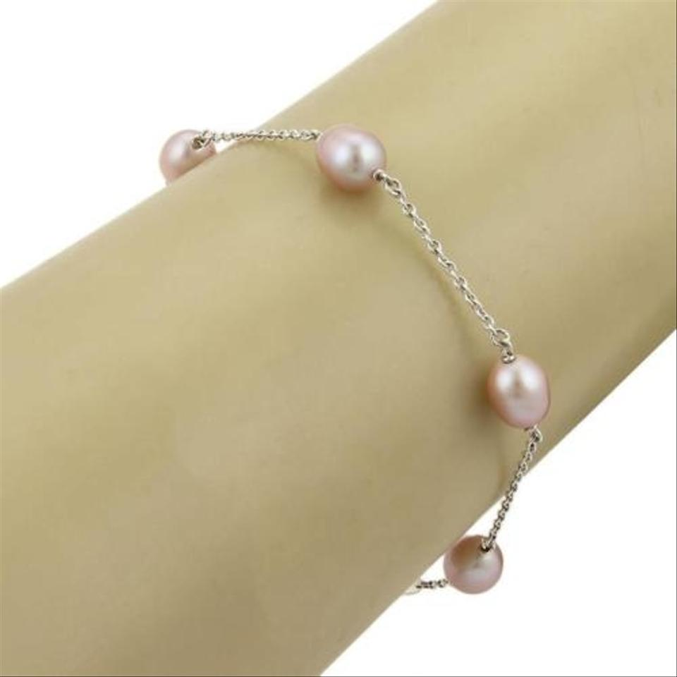 827c35a9949ba Tiffany Co. Peretti Pearl By The Yard Bracelet In Sterling Silver Pink  Pearls