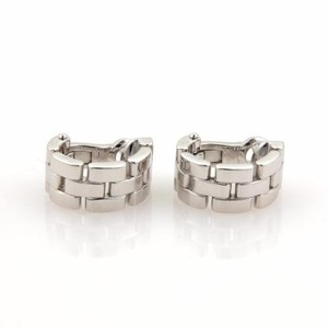 Cartier Cartier Maillon Panthere 18k White Gold Oval Hoop Earrings