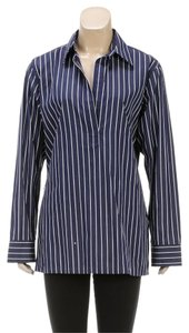Lauren Ralph Lauren Button Down Shirt Blue/White