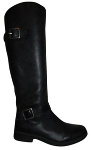 Lucky Brand Leather Riding Fanni black Boots
