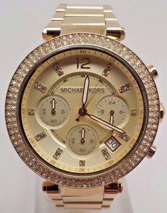 Michael Kors Michael Kors Original Mk5354 Womens Parker Gold Crystal Stainless Steel Watch