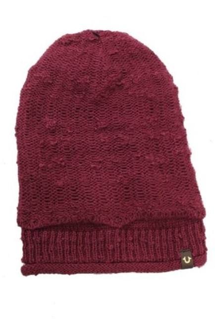 Item - Wine Knit Beanie Hat