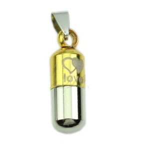Stainless Steel Love Pill Capsule Necklace Free Shipping