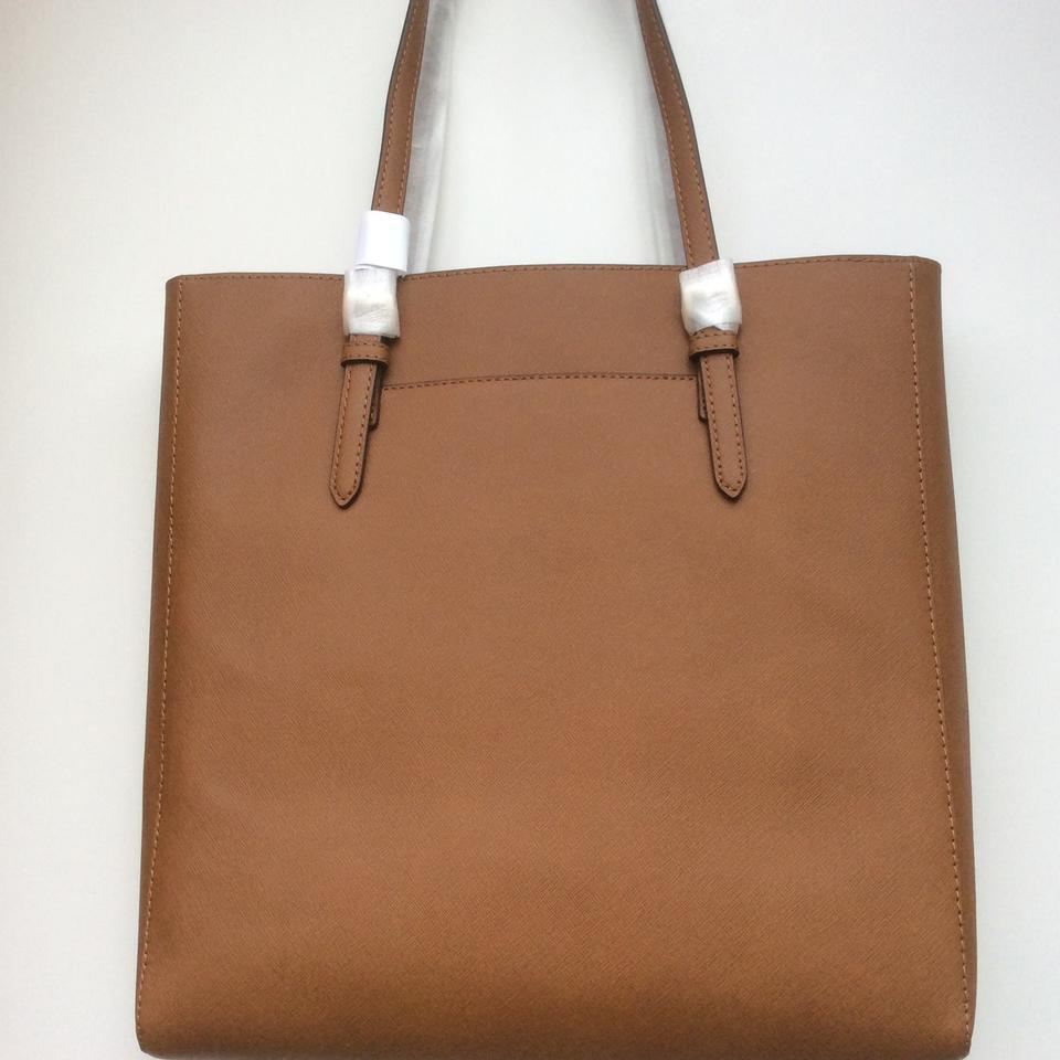 5728e53a227b Michael Kors Sale Large Saffiano Ns Luggage Leather Tote - Tradesy