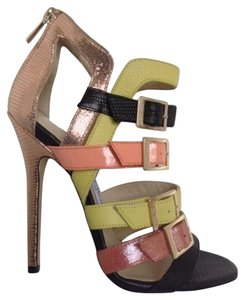 Jimmy Choo Sexy Leather Rich Multi Sandals