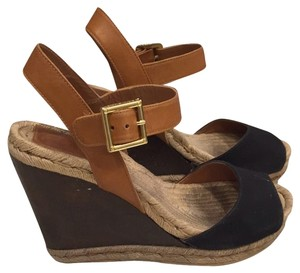 Tory Burch Black And Brown Mules