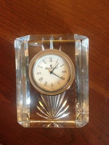 Waterford Crystal Collonade Clock Decoration