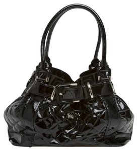 Burberry Beaton Quilted Patent Large Shoulder Bag