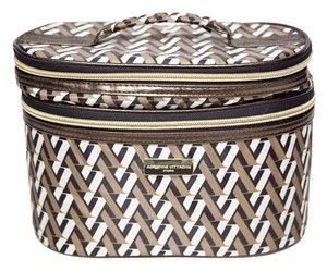 Adrienne Vittadini Miirror Black and Gold Travel Bag