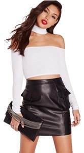 Choker Off-the-shoulder Top White