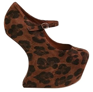 Jeffrey Campbell Nightwalk Leopard Brown Pumps