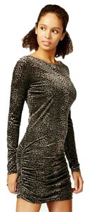 Rachel Roy Bodycon Ruched Leopard Sexy Dress