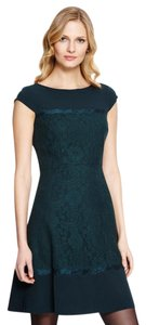 Adrianna Papell Lace Contract Cap Sleeve Dress