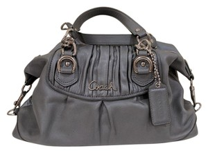 Coach Leather Satchel in Gray